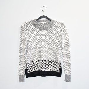 Madewell Grey Scalloped Sweater